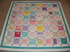 Baby Clothing Quilt ~ Picture