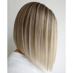 Bob Hairstyles for Beautiful Ladies 2019 – Page 5 of 47 - Balayage Haare Blond Kurz Inverted Bob Cuts, Inverted Bob Hairstyles, Easy Hairstyles For Medium Hair, Short Hairstyles, Blonde Inverted Bob, Angled Bobs, Short Haircuts, Medium Bob Cuts, Blonde Curly Bob