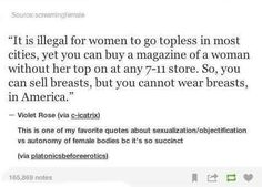 You can sell breasts, but you cannot wear breasts
