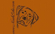 Stickmuster Stickdatei Rottweiler 2 von Nähecke auf DaWanda.com