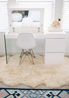 Cara Loren Master Bedroom Makeover Makeup Home Bedroom in dimensions 1123 X 1600 Master Bedroom With Makeup Vanity - A bedroom vanity may be a fabulous Makeup Table Vanity, Vanity Room, Vanity Tables, Vanity Ideas, Makeup Vanities, Makeup Tables, Makeup Desk, Makeup Rooms, Vanity Decor