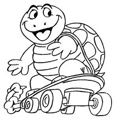 Turtles printable coloring pages