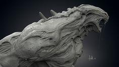Concept work , Ian Whiston on ArtStation at… Alien Concept Art, Creature Concept Art, Creature 3d, Creature Design, Monster Design, Monster Art, Aliens, Zbrush Models, Design Art Drawing