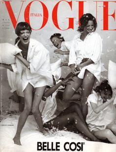 Linda Evangelista , Amber Valletta , Christy Turlington Naomi Campbell & Shalom Harlow Cover Vogue Italia - May 1993 Photographer: Steven Meisel