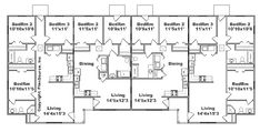 Apartment Layout, One Bedroom Apartment, Duplex Floor Plans, Multi Family Homes, Unit Plan, Investment Property, Tiny House, Small Houses, House Plans