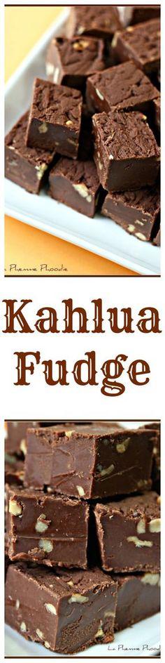 Kahlua Fudge - a chocolate lover's dream dessert! What a delicious chocolate fudge recipe!