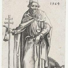 Heilige Antonius, Martin Schongauer, 1564 - Rijksmuseum
