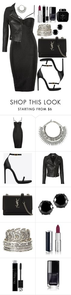 """Untitled #4700"" by natalyasidunova ❤ liked on Polyvore featuring Topshop, Yves Saint Laurent, IRO, West Coast Jewelry, Charlotte Russe, Givenchy, Christian Dior and Barneys New York"