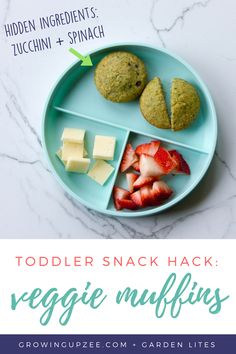 Toddler Snack Hack: Veggie Loaded Muffins by Garden Lites - Growing Up Zee