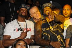 I Love this Pic. Pat livin' it up with DWade and Lebron