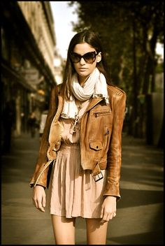 leather jacket.... perfect fall or spring outfit.