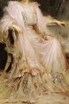 Crown Princess Cecilie of Prussia, née Duchess of Mecklenburg-Schwerin, Detail. by Caspar Ritter, 1908 Renaissance Kunst, Renaissance Paintings, Aesthetic Painting, Aesthetic Art, Flower Aesthetic, Old Paintings, Beautiful Paintings, Art Ancien, Victorian Art