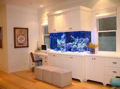 aquarium mural pas cher pour le coin de travail domicile