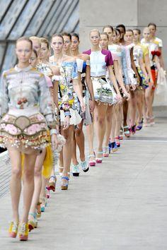 Mary Kartrantzou Spring/Summer 2011 RTW runway finale at London Fashion Week.