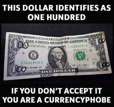 Currencyphobe haha