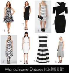 577242e1b01f1 Monochrome Dresses from Luxe to Less Slider. Style Shenanigans · Fashion