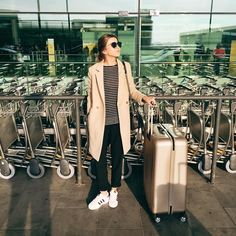 Airport style ✈️ #lovelypepa #lovelypepatravels #airportstyle