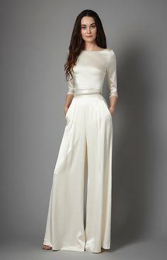 Aurelia Pant, Hayden top, Catherine Deane. Wedding dresses under £1,000