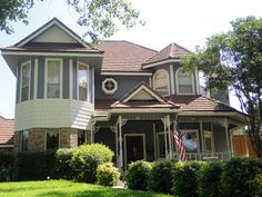 Victorian home in Garland with fresh paint. Unusual and distinctive style for a Dallas area home.