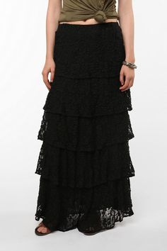 Lucca Couture Tiered Lace Maxi Skirt $79.00