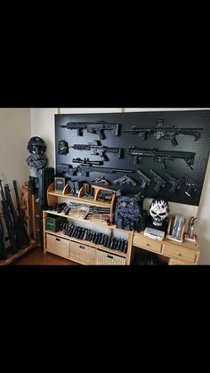 In this DIY tutorial, we will show you how to make Christmas decorations for your home. The video consists of 23 Christmas craft ideas. Ammo Storage, Weapon Storage, Tactical Wall, Tactical Gear, Tactical Equipment, Weapons Guns, Guns And Ammo, Gun Safe Room, Reloading Room