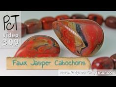 Polymer Clay Faux Jasper Cabochons Tutorial.Click here to watch intro clip: http://www.beadsandbeading.com/blog/faux-jasper-cabochons-polymer-tutorials-vol-054/16345/