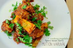How to make Mutton Varutha Curry - Step by Step pictures. Tamilnadu Mutton Fry. | Cooking Jingalala