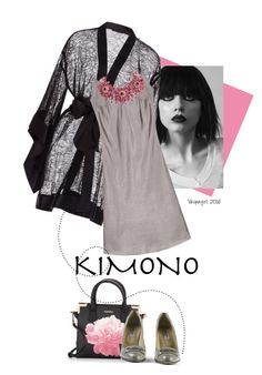 """""""Simply Elegantly Beautifully"""" by vespagirl ❤ liked on Polyvore featuring Kiki de Montparnasse, Calvin Klein, Jimmy Choo and kimonos"""