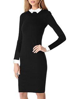 Miusol Womens Black Vintage Office Party Doll Collar Bodycon Pencil Dresses Miusol® http://www.amazon.co.uk/dp/B00R5XQTG4/ref=cm_sw_r_pi_dp_Wfglvb05K2JH8