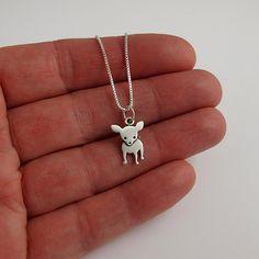 StickManJewelry on Etsy   Chihuahua necklace $30