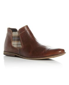 Dune Checked Chelsea Boot, Tan