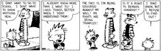 Calvin and Hobbes - educated against my will