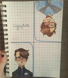 """💙""""As close as we could ever get you're just out of reach, we're asymptotic.""""💙 I don't always draw Logicality, but when I do, I spend ovER…. I love thay guy and his music. Thomas Sanders, Sander Sides, Thomas And Friends, Markiplier, Drawing Reference, Nerd, Fan Art, Comics, Cute"""