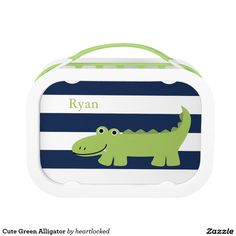 Cute Green Alligator Replacement Plate