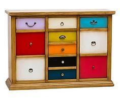 Credenza a 3 ante e 1 cassetto in legno massiccio arlecchino ...