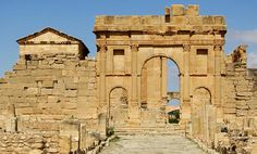 Arch of the Antonines  Sbeitla Ruins, Tunisia