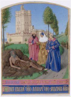 Jean Fouquet   Le Livre d'Heures d'Etienne Chevalier : L'Office des morts, Job sur son fumier   Images d'Art