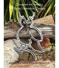 Based on the Great Horned Owl. Designed and made by Rustic Horseshoe Designs.