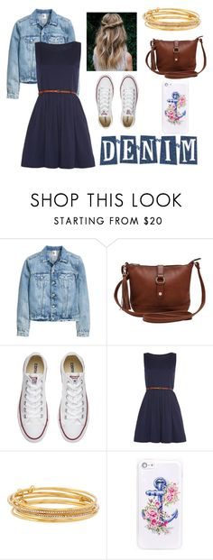 """""""Night Out with ma Denim"""" by akerr116 ❤ liked on Polyvore featuring M&Co, Converse, Mela Loves London and Kate Spade"""