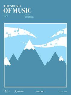The Sound of Music (1965) - Minimal Movie Poster by Jon Correll #alternativemovieposters #60smovies