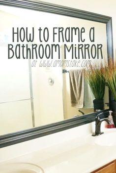 63 Ideas phone wallpaper dark backgrounds black white Bathroom Mirrors Diy, Diy Mirror, Master Bathroom, Bathroom Ideas, Framed Mirrors, Mirror Framing, Mirror Ideas, Bathroom Makeovers, Remodel Bathroom