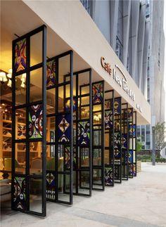 【新提醒】南京新巴黎咖啡 - 餐饮空间 ... Tokyo Restaurant, Vintage Cafe, Entrance Gates, Wall Treatments, Restaurants, Doors, Modeling, Commercial, House