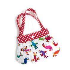 Parrot print little girls purse toddler purse kids purse girl