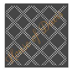 Diamond Lattice Stencil Style 6 12x12 by HouseofDavis on Etsy