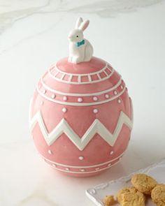 H77B4 Easter Egg Cookie Jar