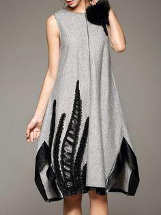 DDER Fashion Paneled Midi Dress