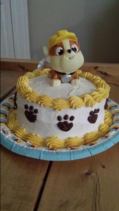 Paw Patrol smash cake, nephews 1st bday!