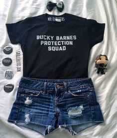 Bucky Barnes Protection Squad black T-shirt