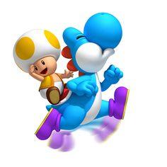 Super Mario Blue Yoshi Toad Iron on Transfer Super Mario World, Super Mario Party, New Super Mario Bros, Super Mario Birthday, Mario Birthday Party, Super Mario Brothers, Super Smash Bros, Mario Bros Wii, Mario Kart