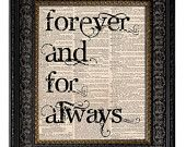 Custom Wedding Gift To Have & To Hold VOWS Personalized Last Name Wedding Date WEDDING SIGN art print on Vintage Dictionary Page 8x10. $12.00, via Etsy.